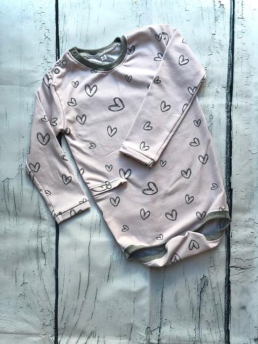 Sondenbody - rosa Herzen